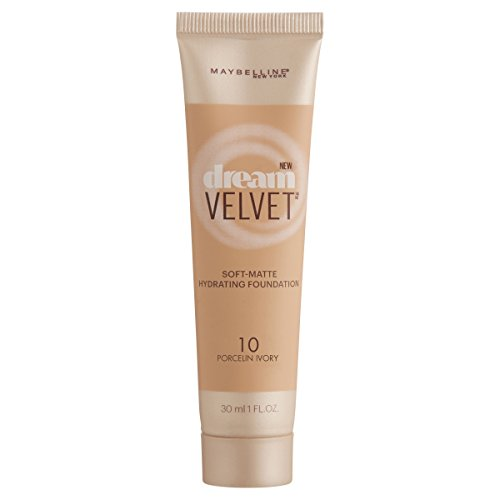Maybelline New York Dream Velvet Foundation, Porcelain Ivory, 1 Fluid ()