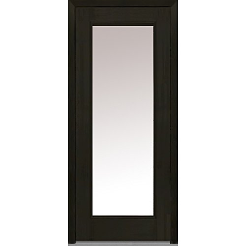 National Door Company Z008241L Fiberglass Prehung In-Swing Entry Door, Left Hand, Clear Glass, Full Lite, Mahogany in Espresso, 36'' x 80'' by National Door Company