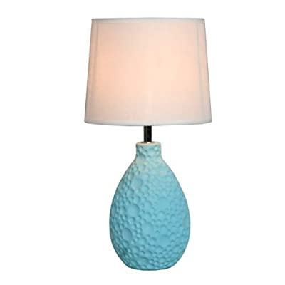 Texturized Ceramic Oval Table Lamp