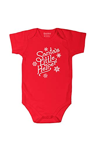 Tipsy Elves Santa's Little Helper Baby Christmas Romper: - Tipsy Santa