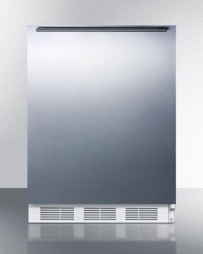 AccuCold VT65M7BISSHHADA 24'' ADA Compliant Upright Freezer with 3.5 cu. ft. Capacity Adjustable Thermostat One Piece Interior Liner and Professional Horizontal Handle in Stainless