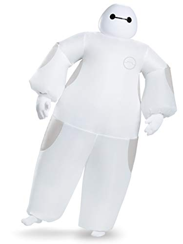 Disguise Men's White Baymax Inflatable Adult Costume, White, One Size