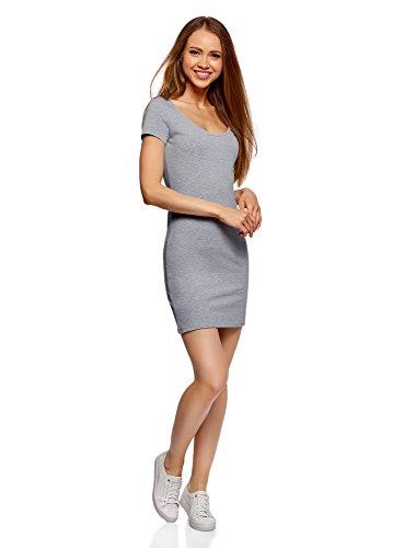 oodji Ultra Mujer Vestido de Punto (Pack de 2) Gris (2000M)