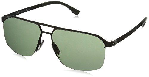 - BOSS by Hugo Boss Men's B0839s Rectangular Sunglasses, Matte Black/Gray Green, 61 mm