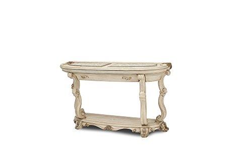 Michael Amini Platine De Royale Console Table, - Glass Console Table Demilune