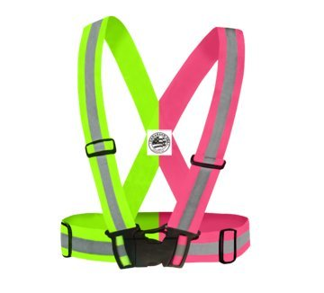 Carabash USA Reflective Vest - Best High Visibility Vest used for Daytime and Nighttime Running Cycling Motorcycle Walking Hiking Bicycle. LightWeight and Elastic Try Risk Free in Pink or Green