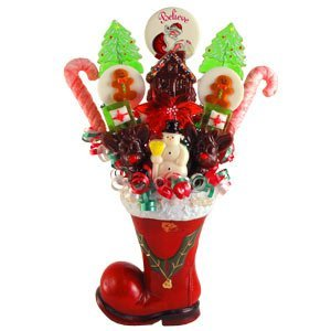 - Santa's Boot Lollipop Bouquet.