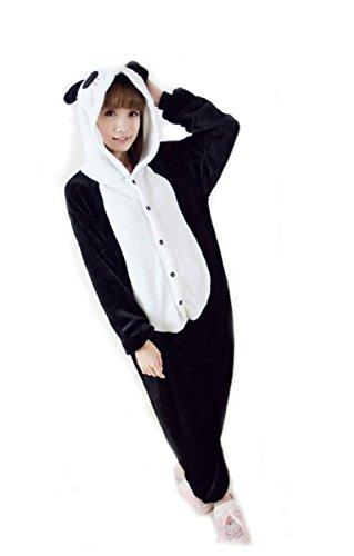 FashionFits Unisex Panda Costume One Piece Adults Sleeping Wear Jumpsuit Pajama L