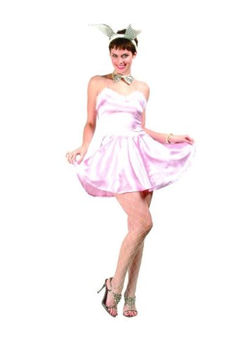 Miss Bunny w/ Ears - Satin Size X-Large (XL) Costume