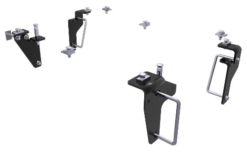 CURT 16426 Black 5th Wheel Hitch Mounting Brackets for 2013 2500, 2013-2018 Ram 3500 (Base Rails Not ()