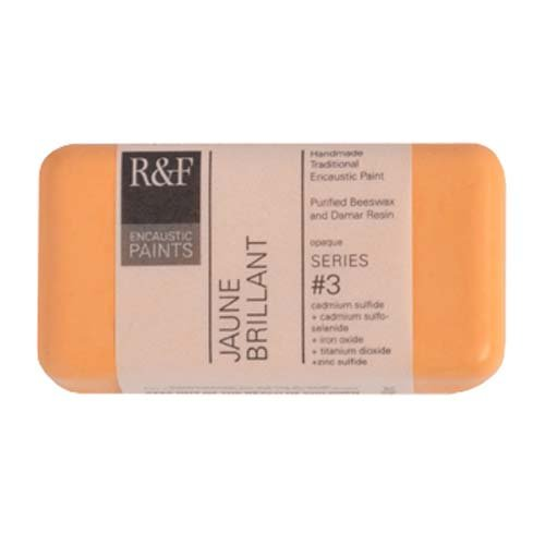 R&F Encaustic 40ml Paint, Jaune Brillant