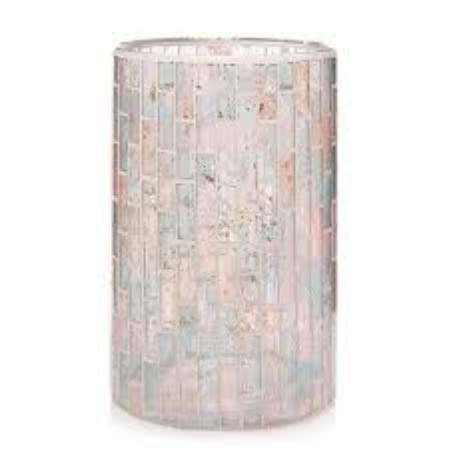 Yankee Candle Romance Mosaic Pastel Glass Jar Candle Holder