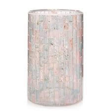 - Yankee Candle Romance Mosaic Pastel Glass Jar Candle Holder
