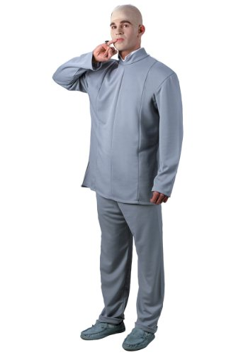 Disguise Mens Deluxe Austin Powers Dr. Evil Theme Party Fancy Costume, One (Deluxe Dr Evil Costume)