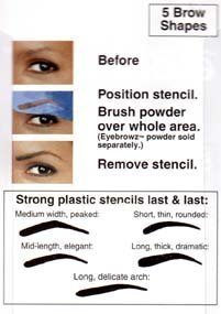 Eyebrowz Stencils to Darken and Shape with Wallet - Includes 5 Brow Shapes
