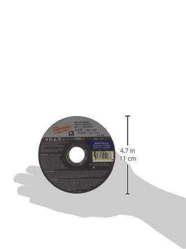 x .045 in Milwaukee 49-94-4500 Cut-Off Wheel 4-1//2 in x 7//8 in. Type 1 MILWAUKEE ELECTRIC TOOL