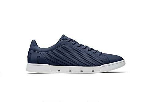 buy cheap explore SWIMS Men's Breeze Tennis Knit Sneakers for Pool and Summer Navy/White clearance manchester great sale buy cheap cheap free shipping best place tSTGJFVh