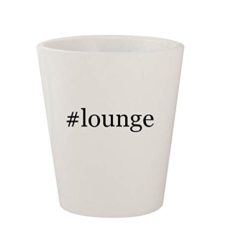 #lounge - Ceramic White Hashtag 1.5oz Shot Glass