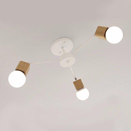 Nordic personalidad creativa de madera sólida vida restaurante LED lámpara de techo dormitorio principal estudio moderno...