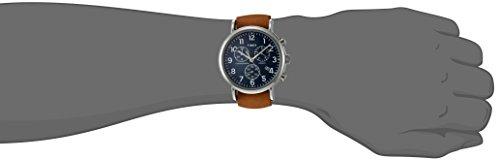 Timex TWG012800QM Unisex Weekender Chrono Tan Leather Strap Watch Gift Set + Navy Nylon Strap by Timex (Image #3)