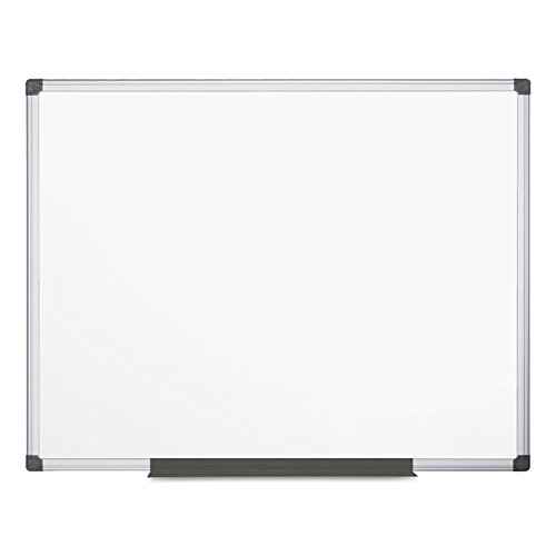 MasterVision Maya Magnetic Lacquered Steel Dry Erase Board, 4' x 6', Whiteboard with Silver Frame (MA2707170) by MasterVision