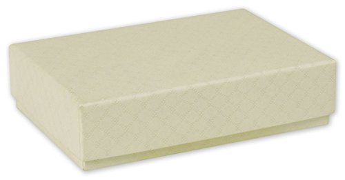 Quilted Cream Decorative Candy Boxes  25 Boxes    Bows 65 Dcbsm Qcr