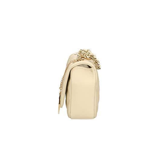 genuina cm Piel de Chicca Italy Made in en embrague Borse de Beige hombro Bolso 19x13x6 8wAwqO0B