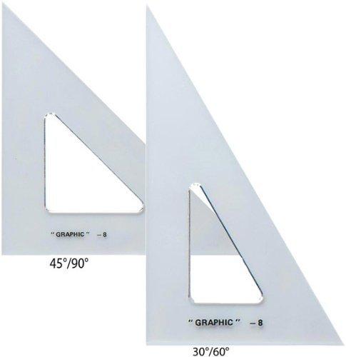 Alvin AS680 Transparent Triangle Set