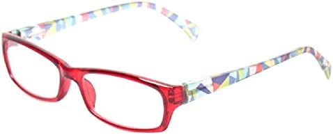 Reading Glasses 5 Pairs Fashion Ladies Readers Spring Hinge with Pattern Print Eyeglasses for Women
