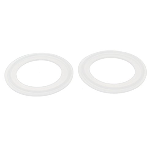 (Uxcell a15042100ux0002 45mm Silicone Gasket 2pcs for 2-inch Tri Clamp Sanitary Pipe Ferrules (Pack of 2))