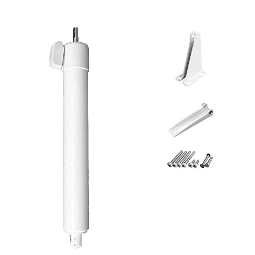 Greenstar Touch'n Hold Heavy Duty Pneumatic Screen, Storm and Security Door Closer Single Kit - White - Storm Heavy Door Duty