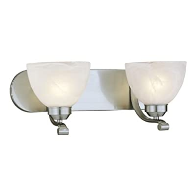 Minka Lavery 5421-84, Paradox Glass Wall Sconce Lighting, 1 Light, 100 Total Watts, Nickel