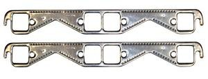 Port Aluminum Exhaust Gaskets (Proform 67921 Aluminum Exhaust Header Gasket with Square Ports for Small Block Chevy - Pair)