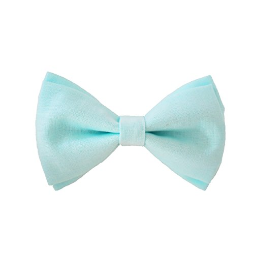 - Mint Green Bow Tie Clip On Fits Baby Toddler Boy Handmade Boys Bow Tie (One Size Fits All) - by Blossom Design