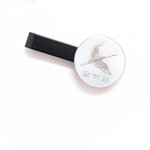 Korea Tie Bar Clip Tiebar Tieclip Suit Vintage Style Flag Asia Korean Crane Seoul