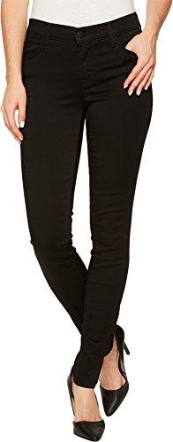 J Brand Women's 620 Mid-Rise Super Skinny In Black Black 28 by J Brand Jeans