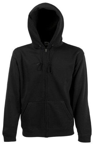 Fruit of the Loom Mens Zip Through Hooded Sweatshirt Hoodie Black ...