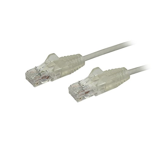 StarTech.com Cat6 Ethernet Cable - 1 ft - Gray - Slim - Snagless RJ45 Cable - Network Cable - Ethernet Cord - Cat 6 Cable - 1ft (Startech Cables Coms Cat6)