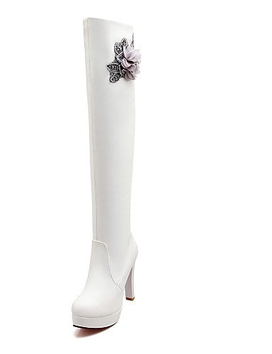 pour marron Talon Citior Chaussons pour décontracté Bottes Femme Bottes Femme Bout Rond Stiletto Chaussures gwdUOw