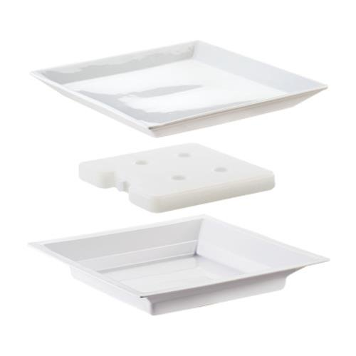 Cal-Mil 3063 Cold Concept Plate Set, 1'' Height, 11'' Width, 11'' Length by Cal Mil
