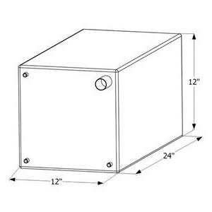 ICON 12471 Fresh Water Tank with 3/8'' FTP and 1-1/4'' Filter WT2471-15 Gallon (24'' x 12'' x 12'')