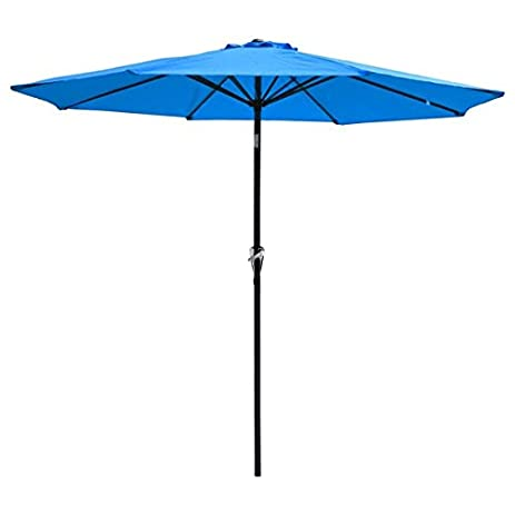Amazoncom FT Diam Outdoor Patio Furniture Umbrella Blue - 7 foot stainless steel table