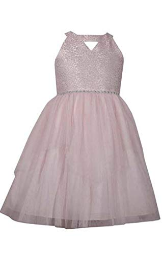 Bonnie Jean Dress with Ivory Brocade Bodice and Tulle Size 7