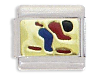 Skiing Italian Charm Bracelet Link ()
