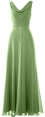 Formal Neck Women Gown Long Cowl Dress Party clover Wedding Bridesmaid MACloth xtqw8nd4Pq