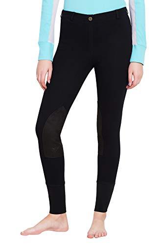 TuffRider Women's Starter Lowrise Pull-On Breech, Black, ()
