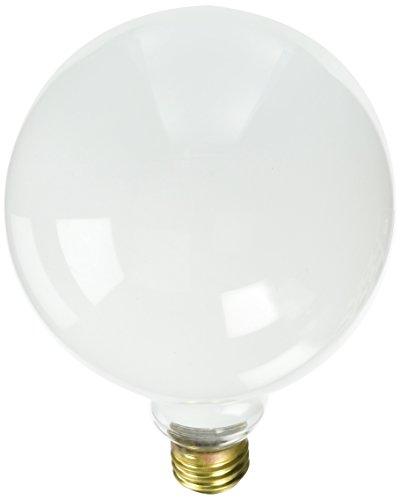Bulbrite 25G40WH 25W G40 Globe 125V Medium Base Light Bulb, White