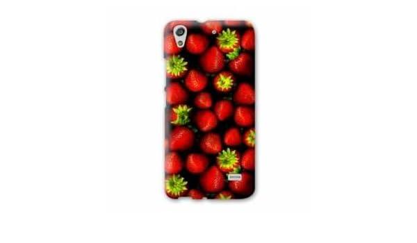 Amazon.com: Case Carcasa HTC 626 Gourmandise - - fraise noir ...