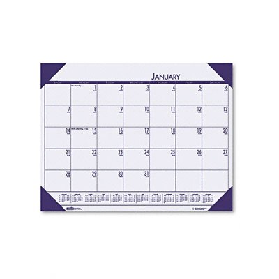 House of Doolittle EcoTONES Monthly Desk Pad Calendar, 4-Corner Holder, January-December, 2013, 22