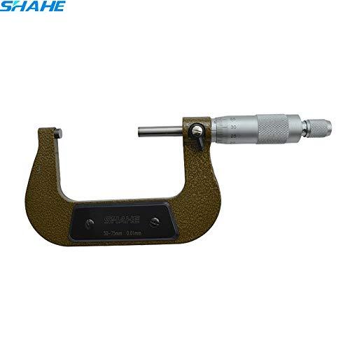 TOSHUN 1PCS 50-75 mm High Accuracy Yellow Measuring Tool 0.01 Metric Outside Micrometer